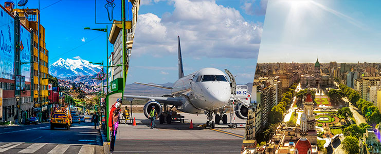 Viaje aereo a la Paz
